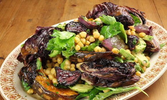 Maggie Beer's Cheat�s Chickpea, Pumpkin and Roasted Onion Salad