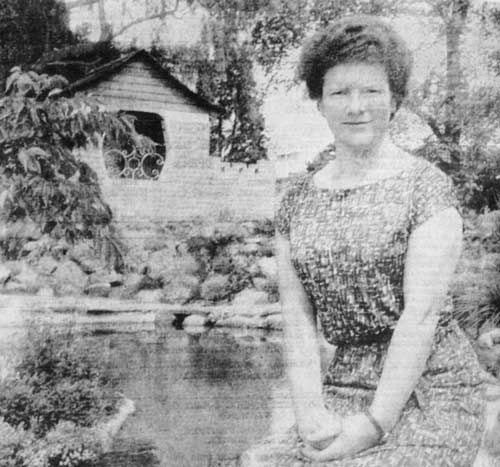 Janet Frame, Otago's most distinguished writer (seen here in 1963), was raised and educated in Ōamaru, attending Waitaki Girls' High School. Much of her work evokes her childhood in that town, notably her first novel Owls do cry (1955), and To the is-land (1982), the first volume of her autobiography.