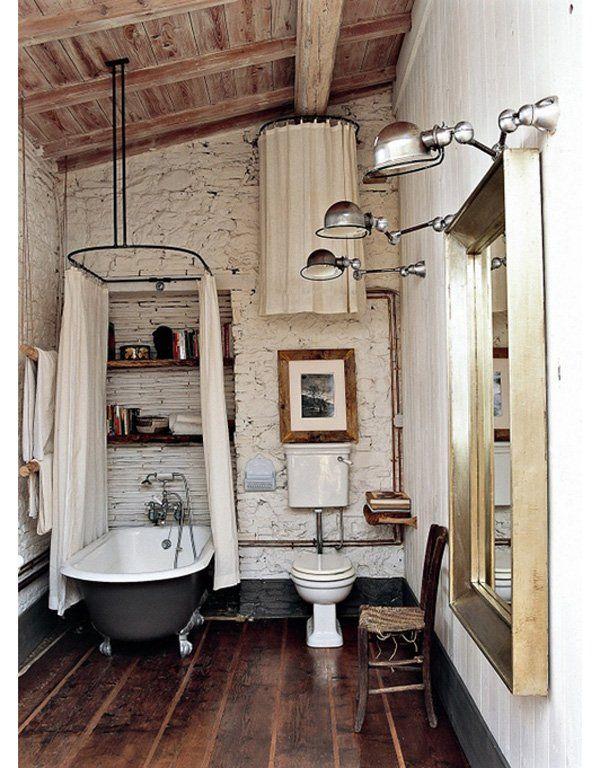 Clawfoot tub painted black - I am so doing this. small bathroom - 55 Cozy Small Bathroom Ideas | Art and Design