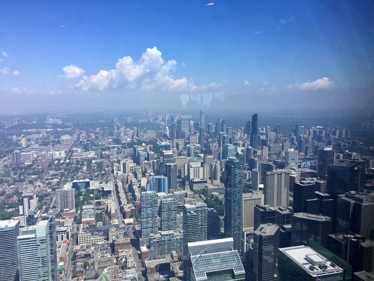 View from the CN Tower , Toronto, Canada