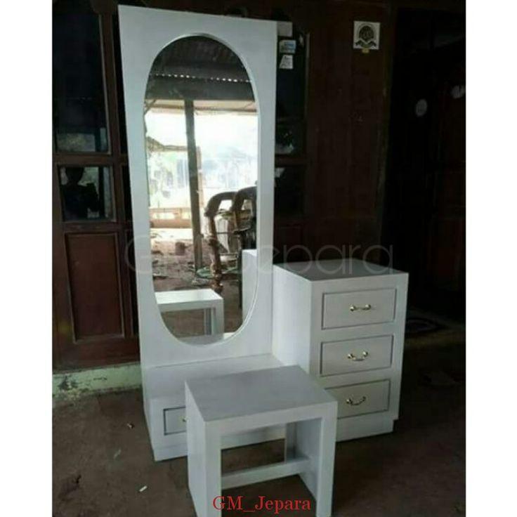 Meja Rias Putih Minimalis, meja rias jati, meja rias lampu, meja rias modern, meja rias kayu, meja rias hello kitty,