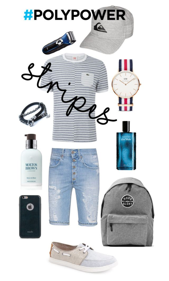 """My ideal man "" by katherine-chocolate on Polyvore featuring Dondup, Lacoste, TOMS, Art Disco, Quiksilver, Daniel Wellington, Davidoff, Braun, Moshi and Molton Brown"