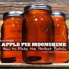 """Apple Pie """"Moonshine"""" Ingredients To make a killer batch of """"apple pie moonshine"""" you're going to need more than just cinnamon. We think it's best when it also"""