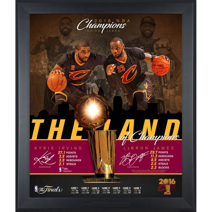 """LeBron James & Kryie Irving Cleveland Cavaliers Fanatics Authentic Framed 20"""" x 24"""" 2016 NBA Finals Champions Overview Collage - $99.99"""