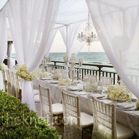 a beach wedding...