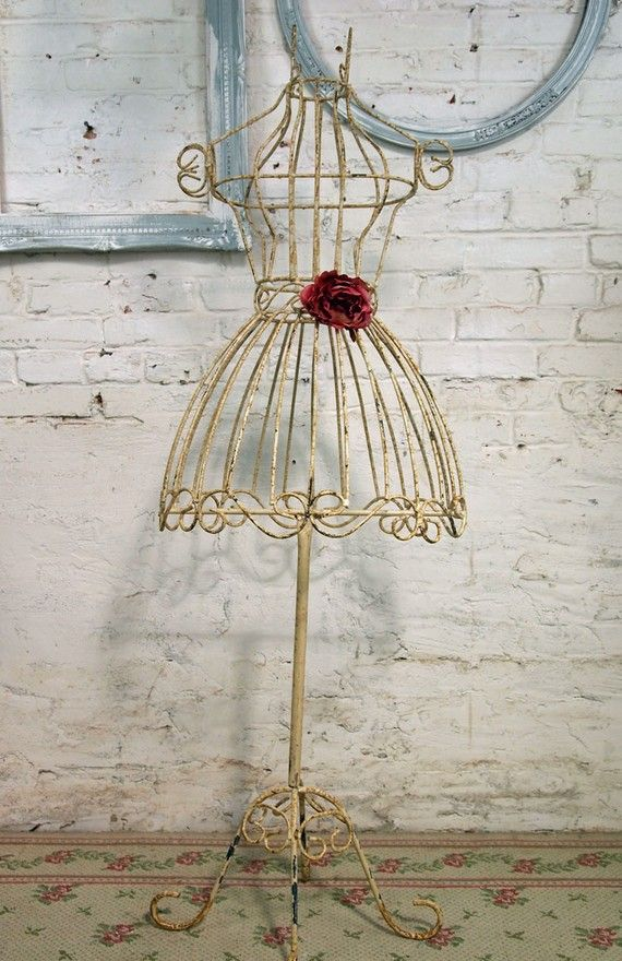 Painted Cottage Chic Shabby White Iron Dress por paintedcottages