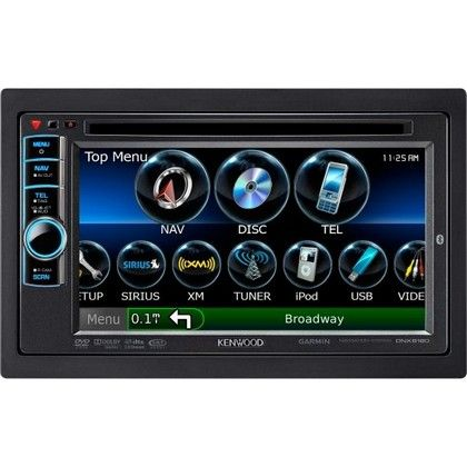 "2005-2010 Scion TC Kenwood 6.1"" Double-DIN GPS Navigation/DVD Receiver With NAVTEQ Traffic, Bluetooth, & Pandora"