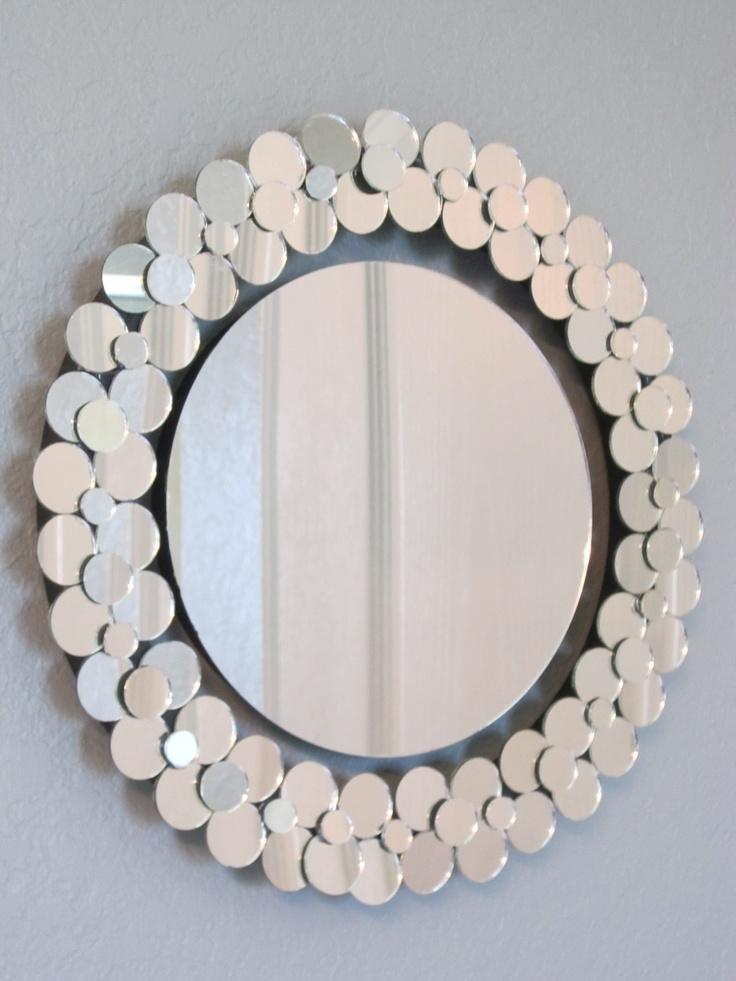Wall Art Mirror Diy : Mirror on the wall easy diy wreath with