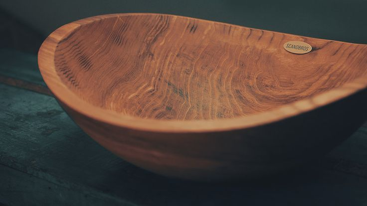 Wooden sink, made from single of wood.