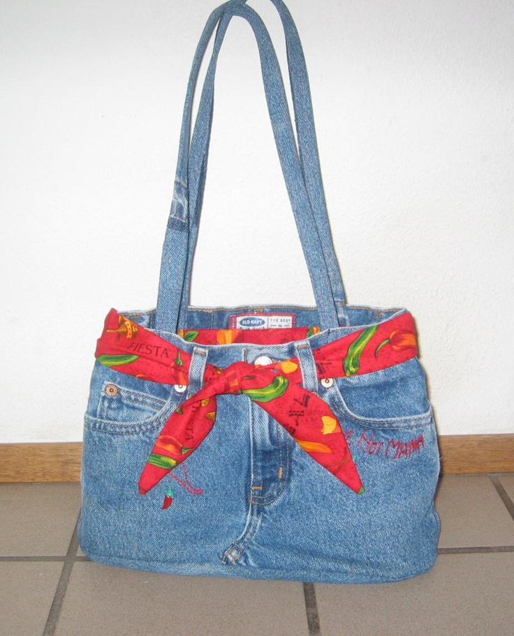 Purse made from old kids jeans