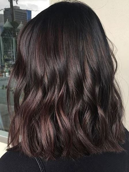 Trendy Hair Color Ideas 2017 2018 Blackberry Truffle