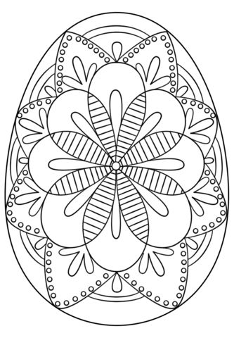 Intricate Easter Egg Coloring Page From Eggs Category Select 24652 Printable Crafts Of