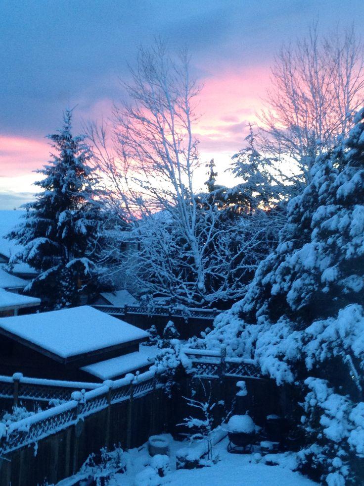 1st sunset of 2017 Cloverdale British Columbia