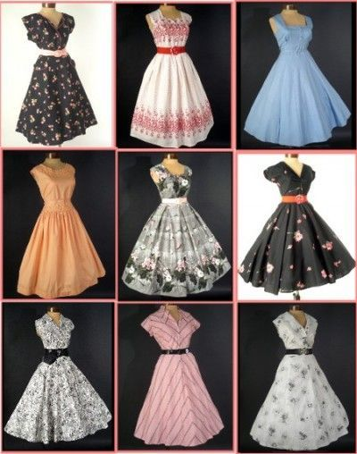 1950s vintage fashion dresses | How-to-wear-vintage no matter your size.