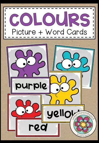 colours  picture  word cards  unterrichtsmaterial im