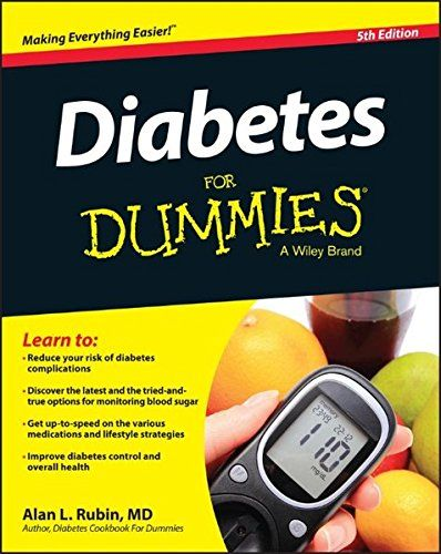 """Diabetes for dummies, 5th edition"" / by Alan L. Rubin, MD (image via Amazon)"