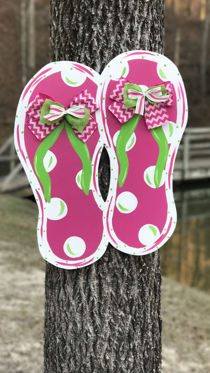 A personal favorite from my Etsy shop https://www.etsy.com/listing/232184795/flip-flop-door-hanger