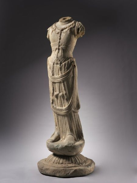Bodhisattva, 700s China, Hebei province, Tang dynasty (618-906)