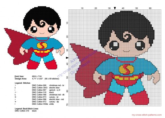 Baby Superman Superheroes free cross stitch patterns - free cross stitch patterns simple unique alphabets baby