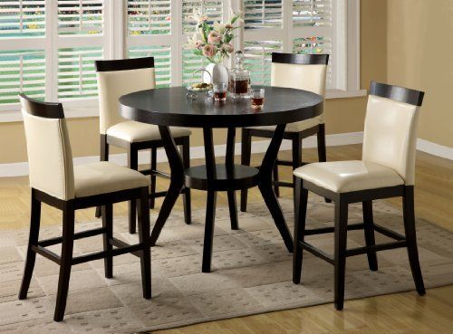 Furniture Of America Galore 5 Piece Counter Height Dining Set Espresso By Furniture Of