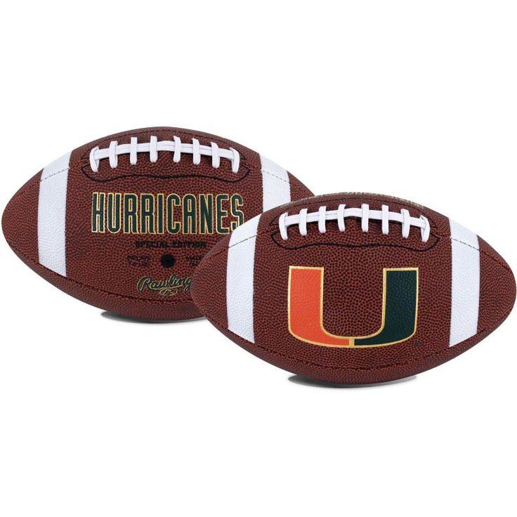 Rawlings Miami Hurricanes Game Time Full-Size Football, Team