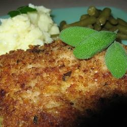 Parmesan Sage Pork Chops --comfort food night!