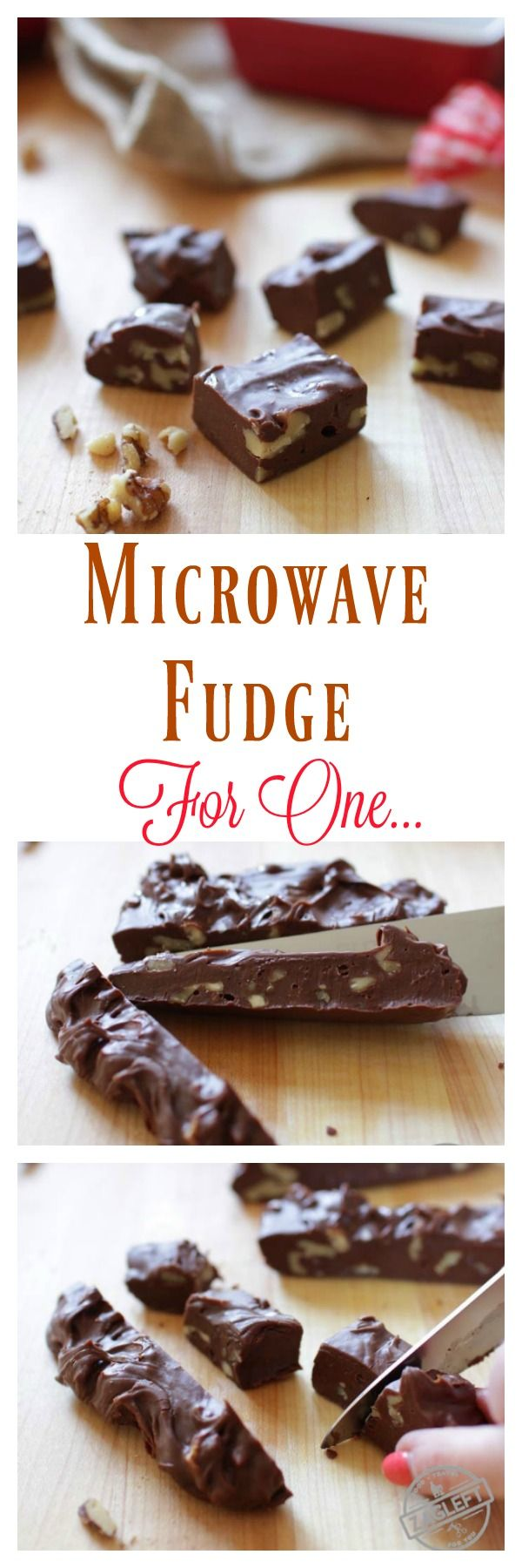 Homemade Microwave Fudge For One – a single serving recipe for rich, smooth, incredible chocolate fudge. One bowl and a microwave is all you need to make this scaled down version of my favorite fudge recipe!   zagleft.com
