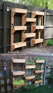 How To Build An Amazing Vertical Garden Project  Do you have limited space ?  http://thehomesteadsurvival.com/verticle-garden-pallets/#.Ui5hn1fHa3g