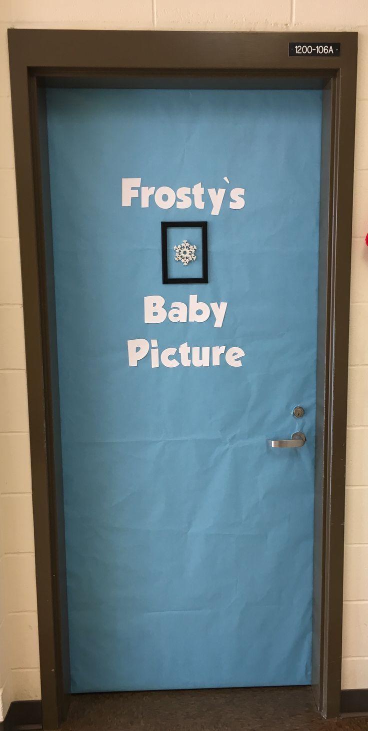 Simple Classroom Christmas Door School Door Decorations