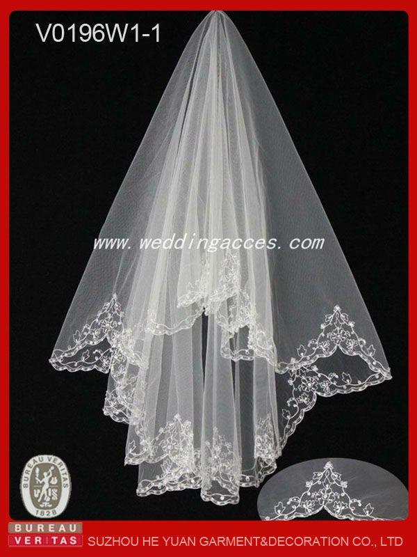 2013 de moda del bordado de tul de novia velo-Velos Novia-Identificación del producto:765947869-spanish.alibaba.com