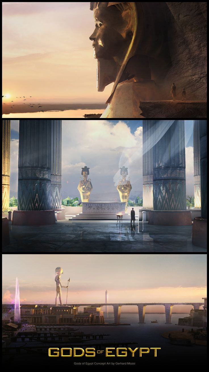 Take a look at some Gods of Egypt concept art by Gerhard Mozsi! http://conceptartworld.com/?p=42196