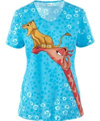 Cherokee Tooniforms Disney Future King Print Scrub Top