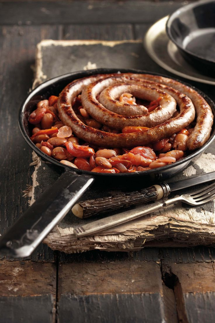 Tomato and beans with sausage south africa