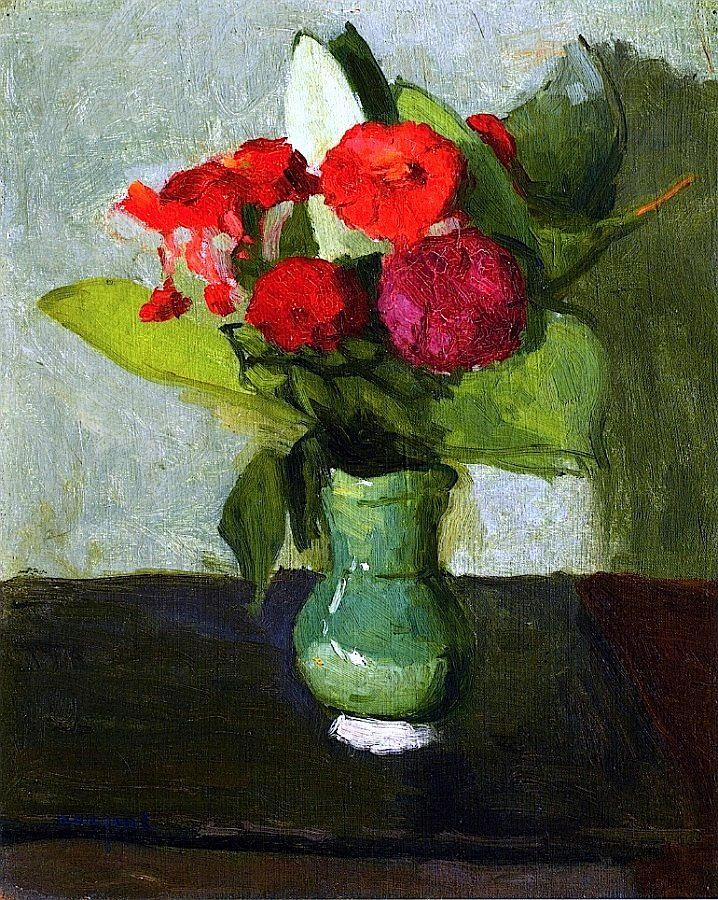 Bouquet of Flowers in a Green Vase / Albert Marquet