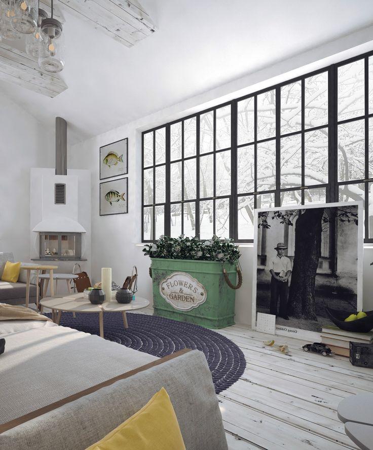 Интерьер дома в скандинавском стиле. Скандинавские интерьеры загородных домов