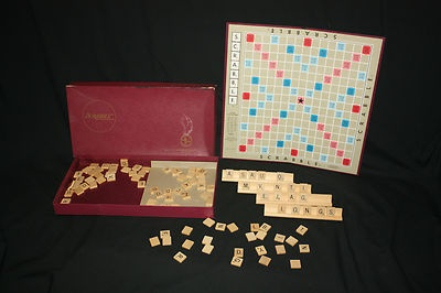 vintage scrabble for crafts or jewelry making