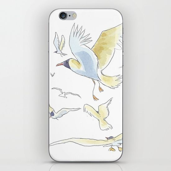Seagull iPhone & iPod Skin by World Sketching Tour - Luís Simões | Society6