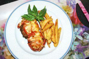 Padlizsános csirkemell csőben sütve