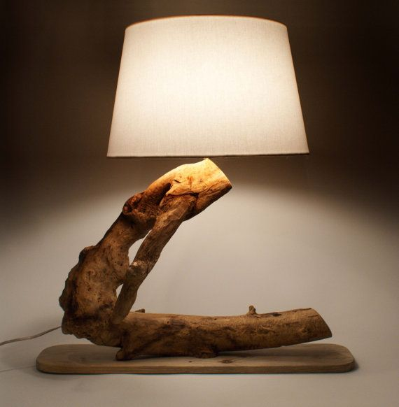 Luxurious Lamp, Driftwood Lamp, Natural Lamp, Handmade Lamp, Natural Wood Lamp. $160,00, via Etsy.