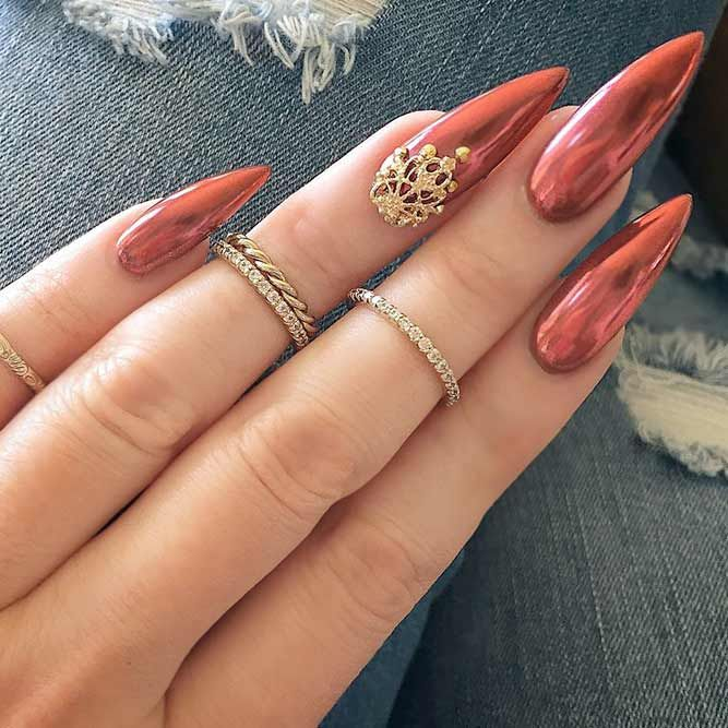 21 Fantabulous Pointed Nail Designs to Finish Your Fall Look ❤ Chic and Stylish Pointed Nail Designs picture 1 ❤ Pointed nail designs are still on the edge of popularity but the change is obvious. As the season changes so are the trends. We will keep you posted! https://naildesignsjournal.com/pointed-nail-designs-fantabulous-look/ #naildesignsjournal #nails