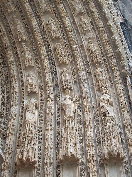 Notre-Dame de Rouen - région Normandie - Portail central - détail des voussures