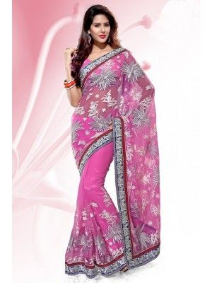 #BOLLYWOOD DESIGNER #NET EMBROIDERED #SAREE #PrettyStyle #UK