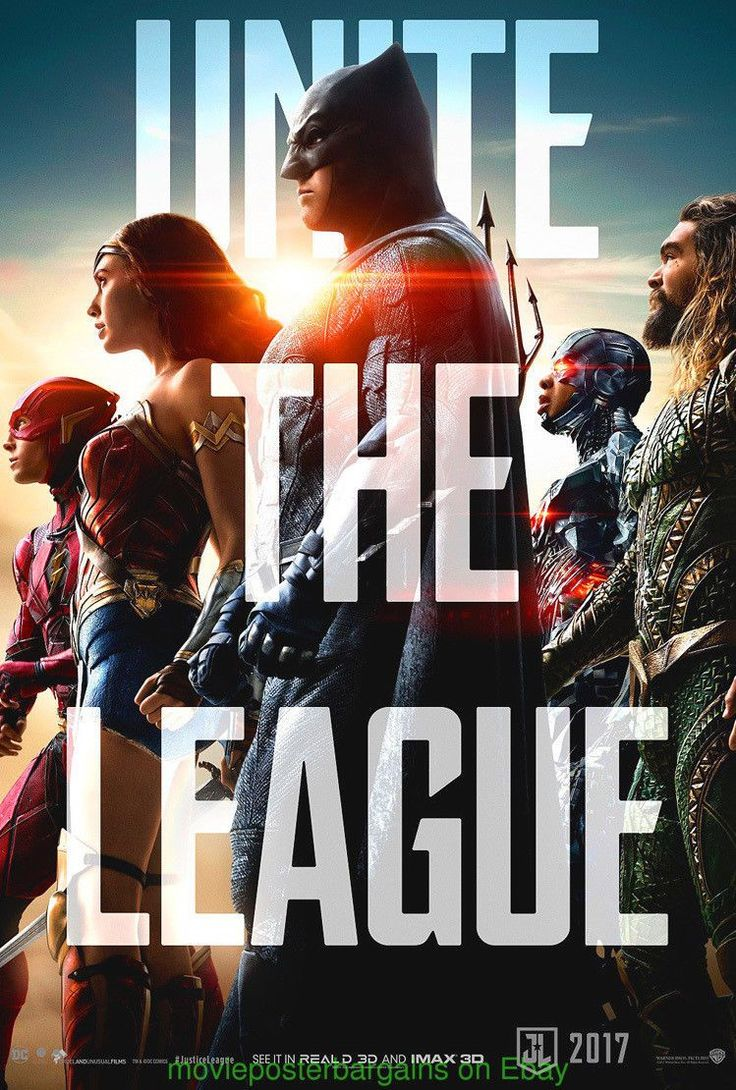 Justice League Movie Poster 27x40 DS First Advance 2017