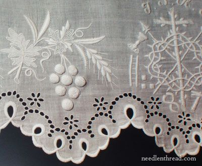 WHITEWORK: with Cutwork.
