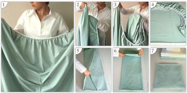 how to fold a fitted sheet AKA sorcery
