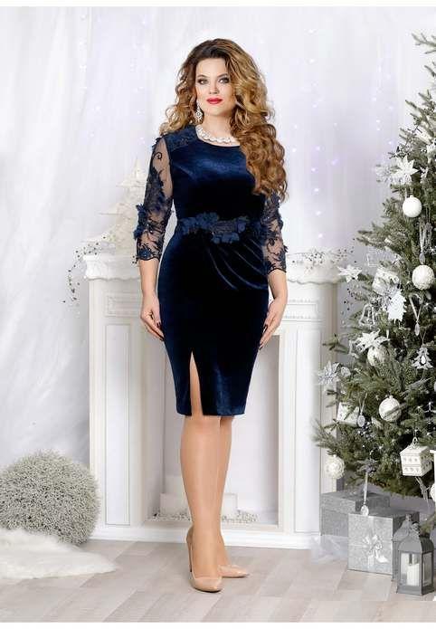 c9230de0af5652 Новогодняя коллекция платьев для полных девушек и женщин белорусской  компании Mira Fashion 2019