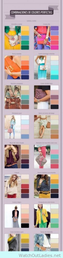 Learn how to mix outfit colors