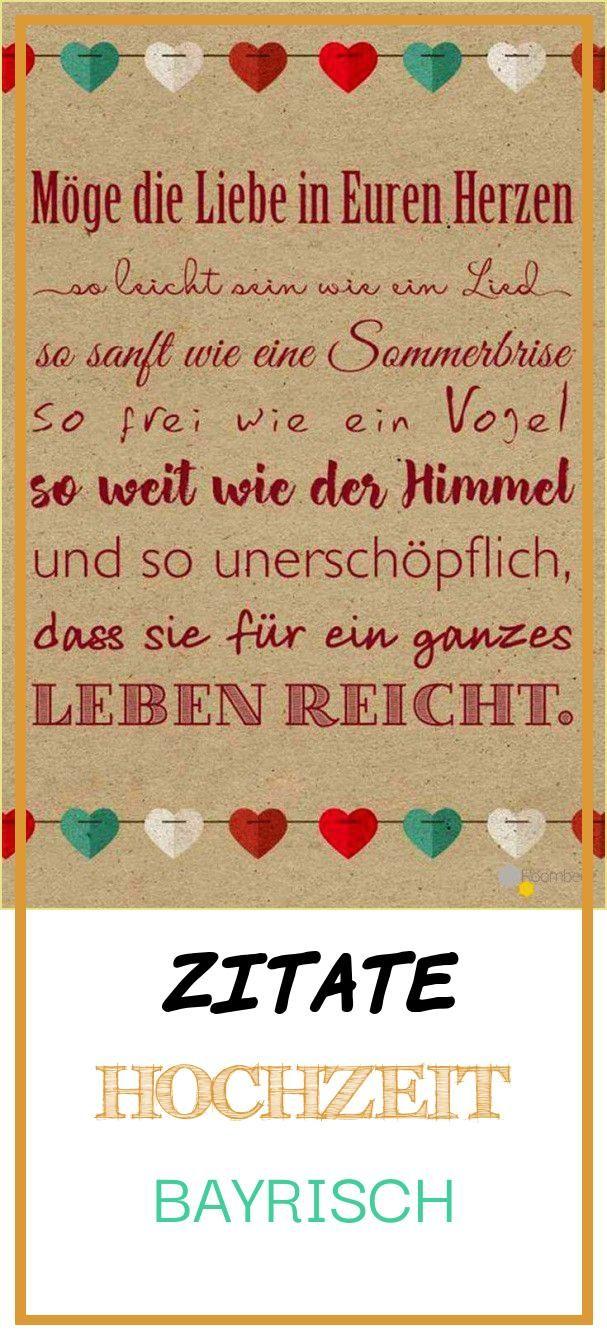 Perfect 14 Zitate Hochzeit Bayrisch Wedding Concept
