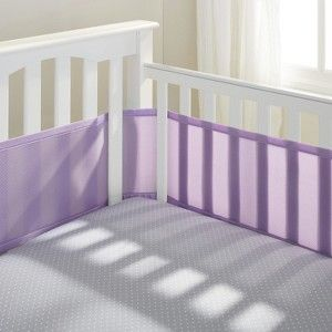 Breathable Mesh Crib Liner by Breathable Baby-Lavender