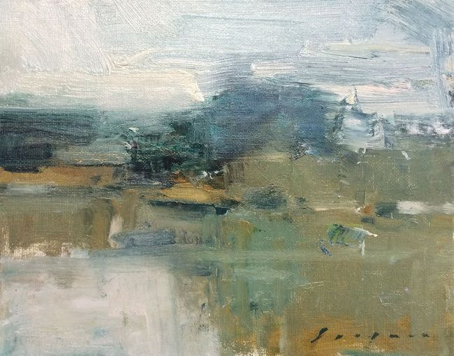 "Rain on the Delta by Simon Addyman Oil ~ 8"" x 10"""